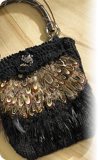 Feathered Purse